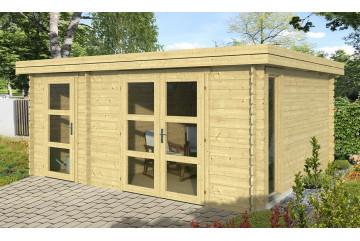 Abri de jardin HAZEBROUCK 28 mm - 15.96 m² intérieur