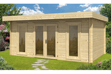 Abri de jardin CANNES 44mm WC - 16,8m² intérieur