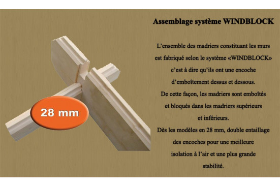 Cabane enfant Funny 28mm - 2.08 m² intérieur