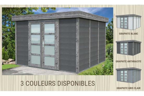 Abri exterieur Noah bois-béton - 9.83m² intérieur