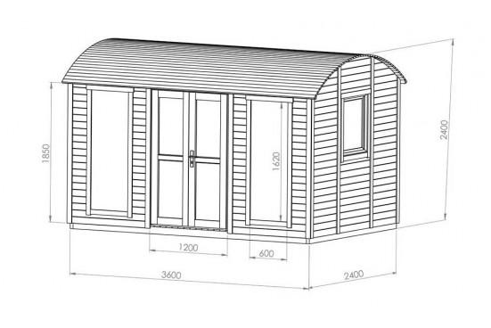 Roulotte bois Keila - 8.2m² intérieur