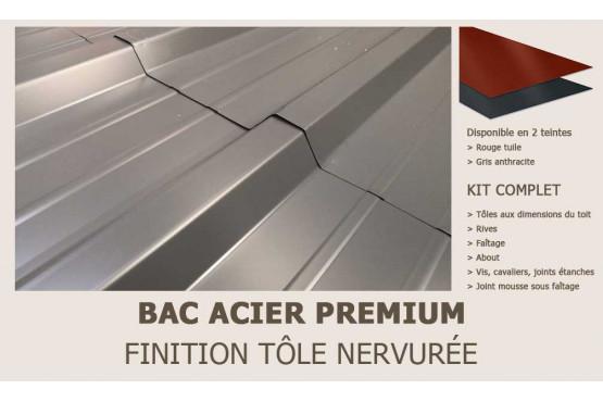 KIT Bac acier plat rouge ou gris anthracite pour Cannes