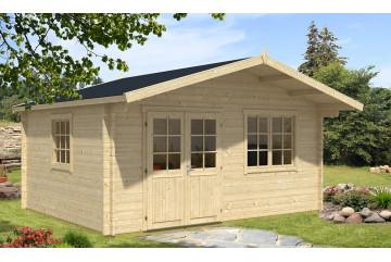 Abri de jardin MANDELIEU 44 mm sans plancher - 17,5m² intérieur