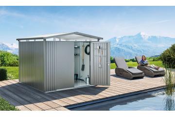 Abri métal Panorama Biohort, 275x155, 1 porte taille P1