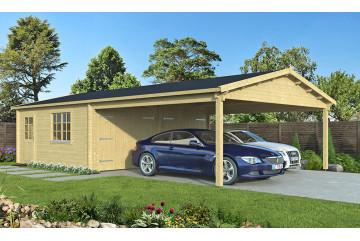 Garage MORZINE madriers contrecollés 70mm - 27.83m² intérieur + 28.05m²