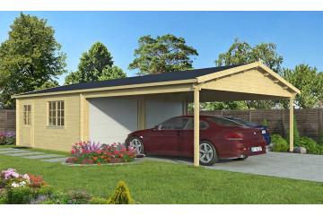 Garage MORZINE portes sectionnelles 44mm - 28.38m² intérieur + 28.46m²