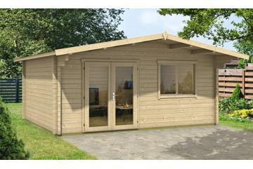 Abri de jardin Lille 70mm sans plancher- 18.30 m² intérieur - 520 x 410cm