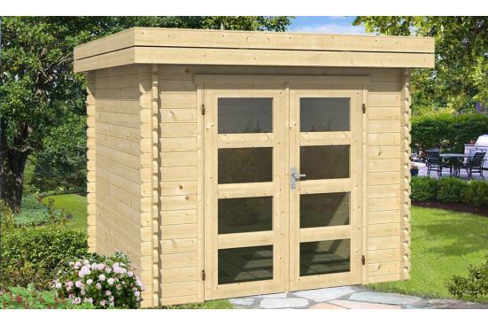 Abri de jardin NANCY 34 mm - 4.98m² intérieur