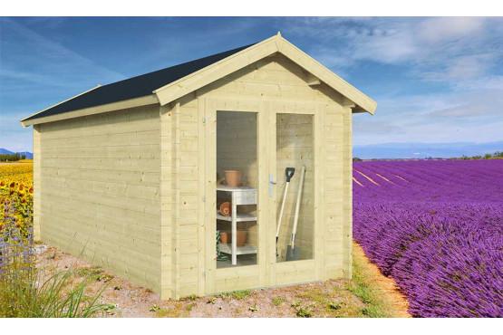 Abri de jardin COLMAR 34mm - 9m² intérieur