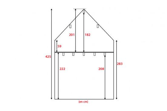 Chalet Mezzanine ANVERS 28 SDB madriers 70mm contrecollés - 28 + 28m² intérieur