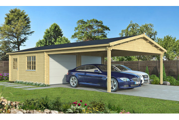 Garage MORZINE 70mm portes sectionnelles - 27.83m² intérieur + 28.05m²
