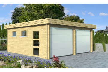 Garage double MARTIGUES 70mm CC Portes sectionnelles