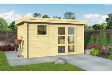 Abri de jardin en bois LYON 9 28 mm - 8.65m² intérieur
