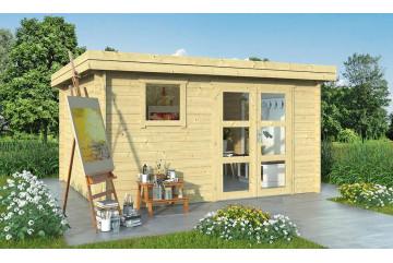 Abri de jardin LYON 13 28 mm - 12.38 m² intérieur