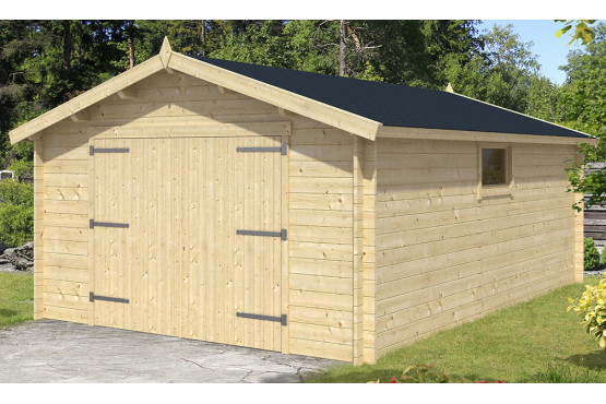 Garage voiture bois GRAND LIMOUSIN 34mm - 20,6m² intérieur