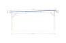 Carport voitures bois Bréhat- 40,8m² couvert