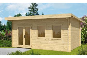 Abri de jardin BORDEAUX 44 mm - 16,8 m² intérieur