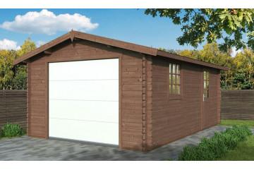 Garage CHAMBERY 44mm - Porte sectionnelle - Traité autoclave CL3