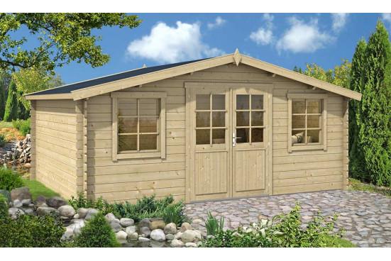 Abri de jardin en bois CAHORS 28 mm - 17,5m² intérieur