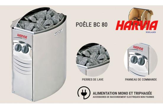 Poêle Harvia Véga BC 80 pour sauna