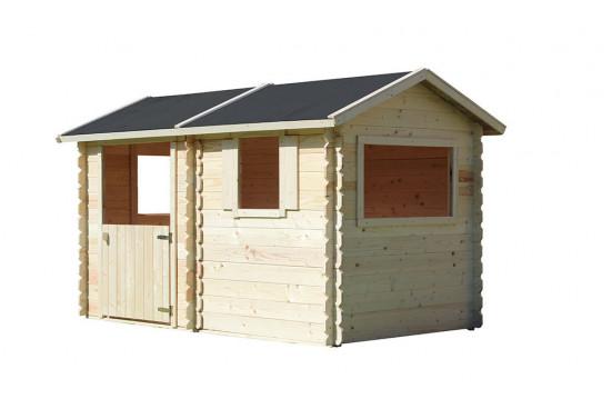 Cabane en bois pour enfant Coline - 2.44m² intérieur