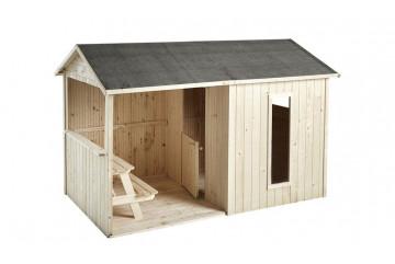 Cabane en bois pour enfants Jazz - 1,25 m² intérieur