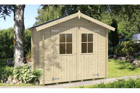 Abri de jardin FELIX madriers 18 mm - 3.81m² intérieur