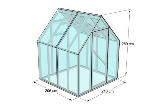 Serre de jardin Greenhouse 1 - surface intérieure 4.5m²