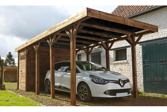 Carport 1 voiture + remise 20.3m² autoclave Harry