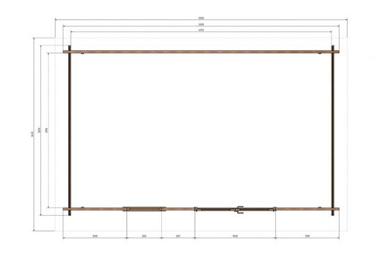 Abri de jardin DAKOTA 15 - Madriers 44mm - 14.30m² intérieur