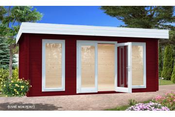 Abri de jardin BRET 2 - 44mm - 19.9m² intérieur