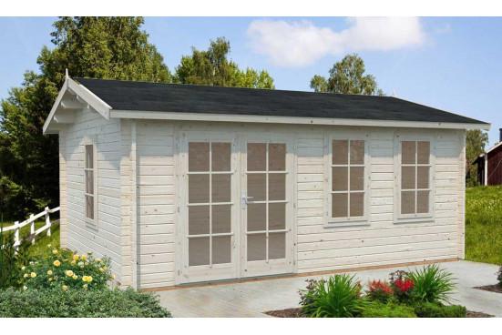 Abri de jardin IRIS 44 mm sans plancher- 19,11m² intérieur
