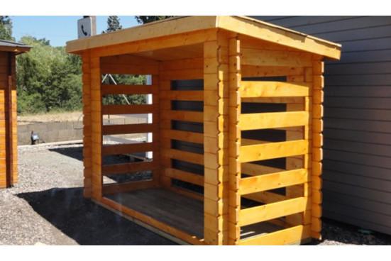abris de jardin bois monopente 28mm - 2,72m² intérieur