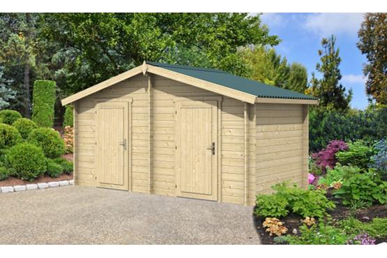 Abri de jardin OUVRIER 2 34 mm-8m² intérieur - double pente - Excellent rapport qualité / prix