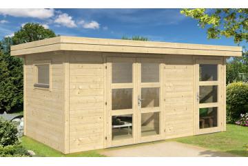 Abri de jardin ANNECY 3 28mm - 10m² intérieur