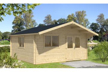 Abri de jardin FONTAINEBLEAU 3 - 44 mm - 32,4m² intérieur