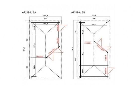 Abri de jardin ARUBA 3B 40 mm - 11,4m² intérieur
