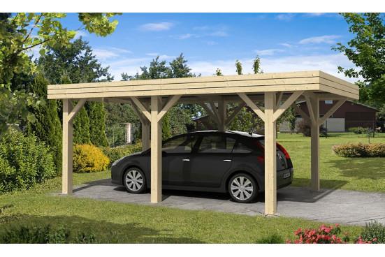 Carport toit plat simple