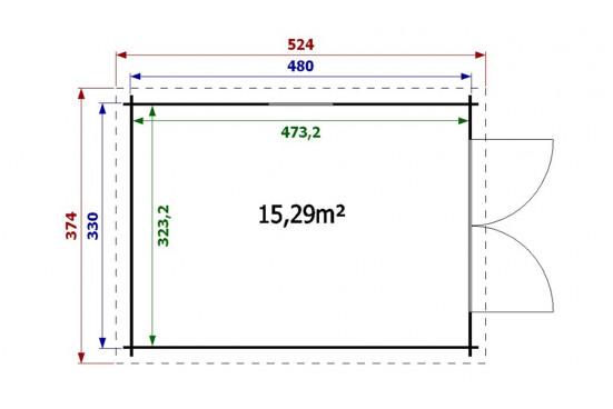 Garage LIMOUSIN 34mm - 15,3m² intérieur