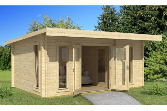 Abri de jardin BARBADOS 1 44mm - 16,8m² intérieur